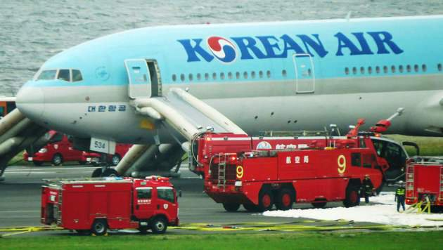 300 Menschen aus Korean-Air-Flieger gerettet (Bild: Associated Press)