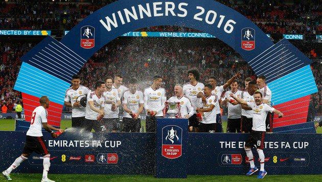 In der abgelaufenen Saison sicherte sich Manchester United den FA-Cup. (Bild: AFP)