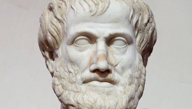 Eine Marmor-Büste des Philosophen Aristoteles (Bild: Wikipedia (gemeinfrei))