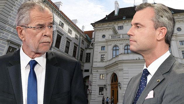 """ÖVP: """"Macht des Bundespräsidenten begrenzen"""" (Bild: APA/HELMUT FOHRINGER, APA/HERBERT NEUBAUER)"""