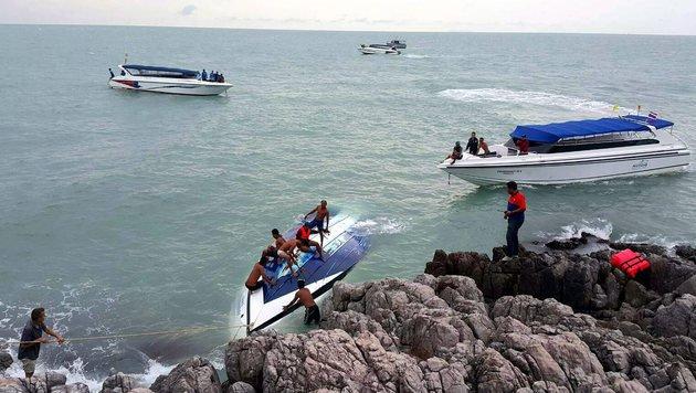 Speedboot gekentert: Vier Österreicher gerettet (Bild: EPA)