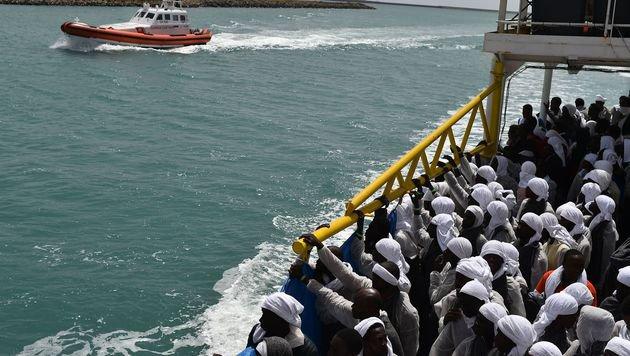 Das Sterben im Mittelmeer geht unaufhaltsam weiter (Bild: AFP)
