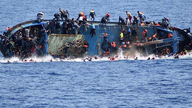 Mehr als 700 Tote: erneut Schreckensmeldungen über Flüchtlingsdramen im Mittelmeer (Bild: AFP)