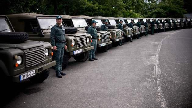 Bulgarische Grenzsoldaten (Bild: AFP (Archivbild))