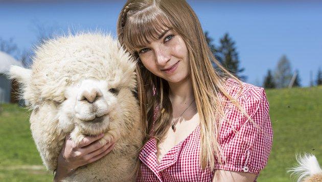Alpaka-Züchterin Tina (Bild: ATV/ERNST KAINERSTORFER)