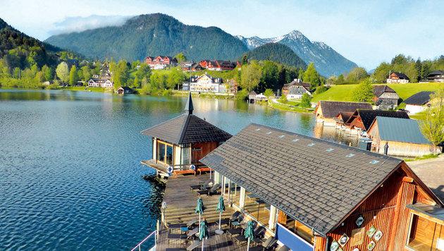 Die Seesauna bietet Abkühlung direkt im Grundlsee. (Bild: Andrea Thomas, Kronen Zeitung)