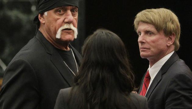 Wrestling-Star Hulk Hogan und Peter Thiel (Bild: AP)
