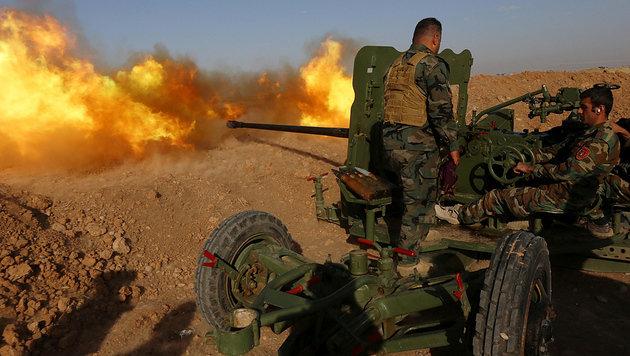 Irakische Truppen vor den Toren Falludschas (Bild: AFP)
