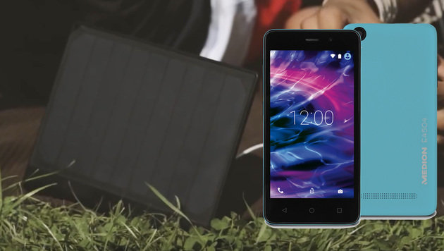 Hofer bringt 80-Euro-Smartphone und Solarladegerät (Bild: Medion)