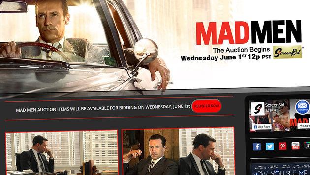 """""""Mad Men"""": Requisiten werden online versteigert (Bild: madmen.screenbid.com)"""