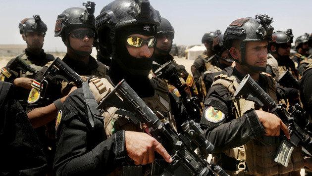 Eliteeinheiten der irakischen Armee vor Falludscha (Bild: ASSOCIATED PRESS)