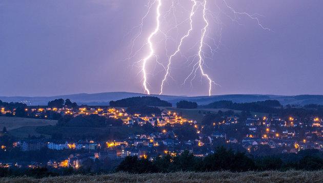 Tote bei schweren Unwettern in S�ddeutschland (Bild: APA/dpa/Bernd M�rz)
