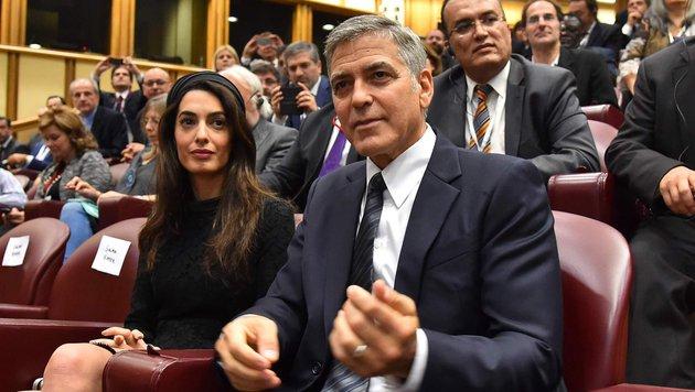 George Clooney und Ehefrau Amal setzen sich für die Bildungsinitiative des Papstes ein. (Bild: AFP or licensors)