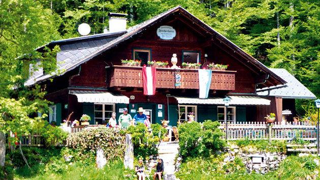 Das Gasthaus Fischerhütte am Toplitzsee (Bild: Andrea Thomas, Kronen Zeitung)