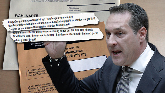 FPÖ-Chef Strache wettert im Internet gegen die Wahlkarten-Auszählung bei der Hofburg-Stichwahl. (Bild: APA/GEORG HOCHMUTH, APA/ROBERT JAEGER, facebook.com)