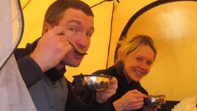 Bergsteiger Robert Gropel mit seiner Frau Maria Strydom vor dem verh�ngnisvollen Aufstieg (Bild: facebook.com/Gropel)