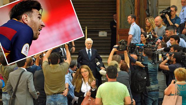 Steuerbetrug? Messi fehlt bei Prozessauftakt (Bild: APA/AFP/LLUIS GENE)