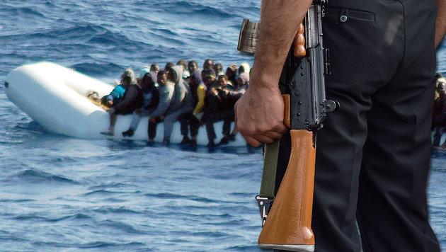 """""""Radikalisiert wird man nicht nur in Rakka"""" (Bild: APA/AFP/MARINA MILITARE/HO, thinkstockphotos.de)"""