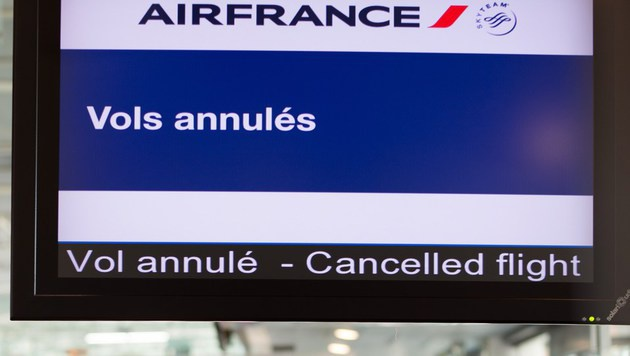 Chaos bei EURO? Air-France-Piloten wollen streiken (Bild: AFP)