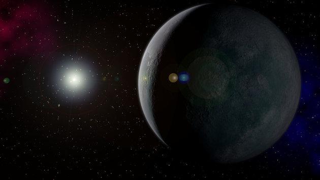 Künstlerische Darstellung von Planet Neun (Bild: Kevin Gill (CC BY-SA 2.0))
