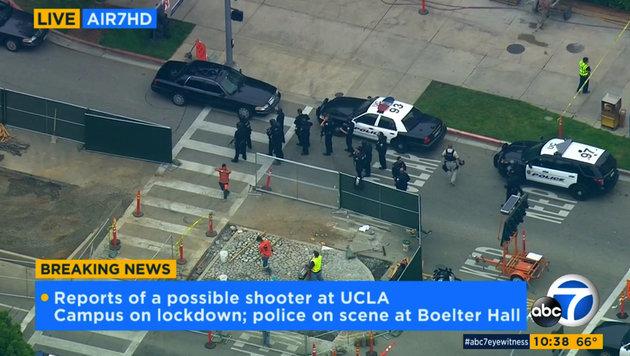Los Angeles: Zwei Tote bei Schießerei an Uni (Bild: Associated Press)