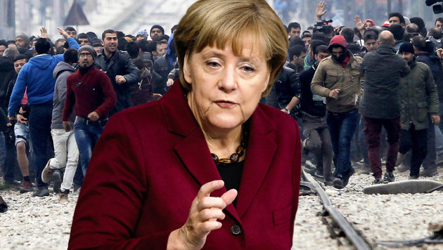 Merkel will nun europäische Ein- und Ausreisedatei (Bild: ASSOCIATED PRESS)