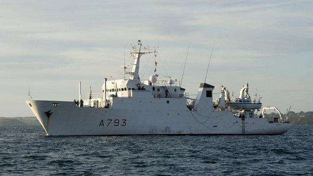 """Das Spezialschiff """"Laplace"""" der französischen Marine (Bild: © Marine nationale)"""