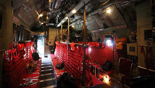 So sieht es im Inneren der Hercules-Maschine aus. (Bild: Christoph Matzl)