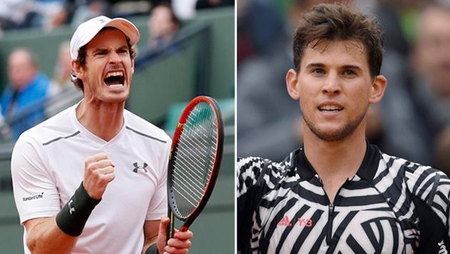 Andy Murray und Dominic Thiem schlagen in Wien auf (Bild: AP, APA/AFP/MARTIN BUREAU)