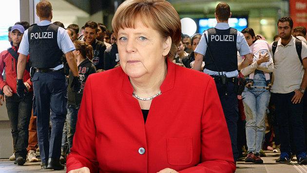 Merkel stoppte 2015 eine totale Grenzschließung (Bild: APA/dpa/Andreas Gebert, ASSOCIATED PRESS)