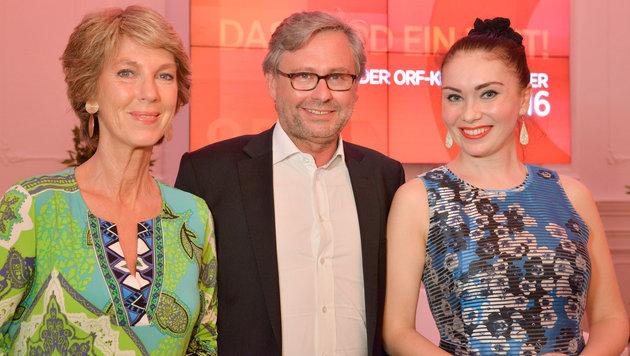 Barbara Rett, Alexander Wrabetz, Margarita Gritskova (Bild: ORF)