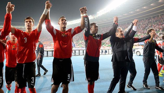 ÖFB-Team geht als Top-Ten-Nation in die EURO 2016 (Bild: APA/ROLAND SCHLAGER)