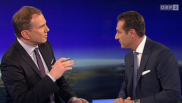 Strache fordert Rücktritt von Armin Wolf (Bild: ORF)