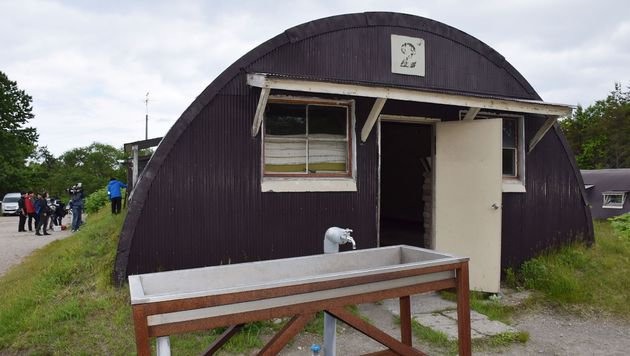 In dieser Hütte fand Yamato einen Unterschlupf. (Bild: APA/AFP/JIJI PRESS)