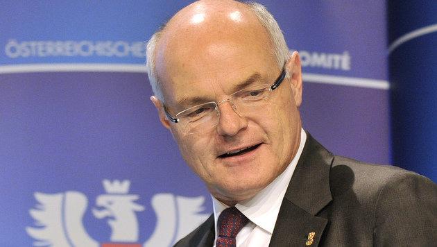 ÖOC-Präsident Stoss vor Aufnahme in das IOC (Bild: APA/HANS PUNZ)