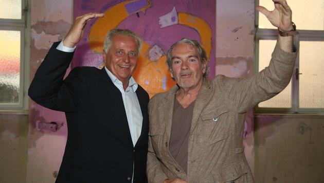 Rudi Holdhaus mit Rudolf Hundsdorfer (Bild: KRISTIAN BISSUTI)