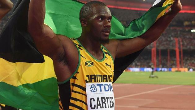 Staffel-Olympiasieger Carter bei Nachtests positiv (Bild: AFP)