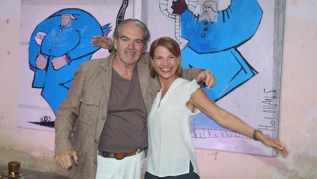 Rudi Holdhaus mit Kristina Sprenger (Bild: KRISTIAN BISSUTI)