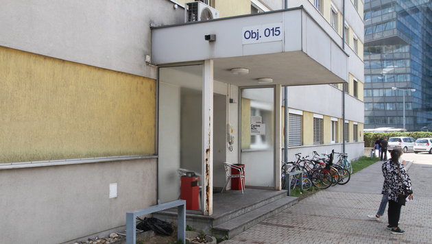 Die Flüchtlingsunterkunft in der Siemensstraße (Bild: Andi Schiel)