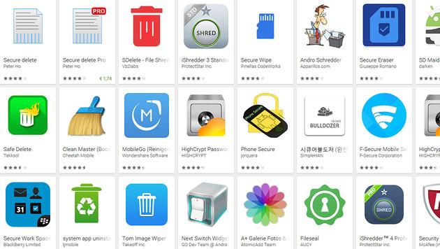 So löschen Sie Ihre Daten richtig vom Smartphone (Bild: Google Play Store)