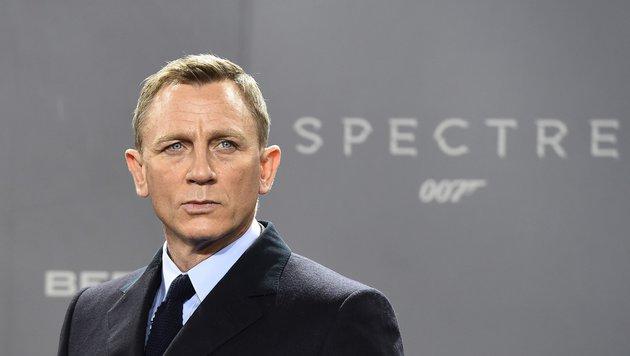 Daniel Craigs vielleicht letzter Fototermin als 007 (Bild: APA/AFP/LEON NEAL)