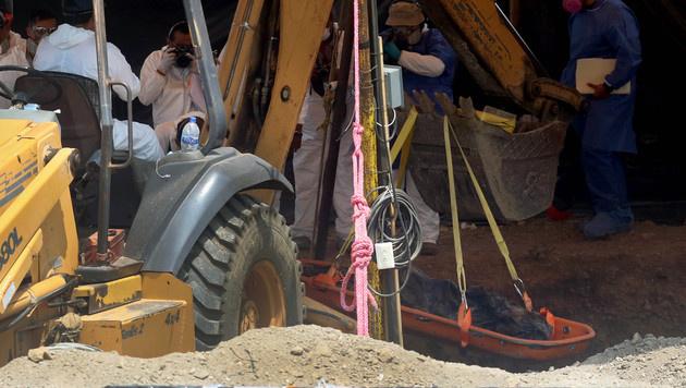 117 Leichen aus Massengrab in Mexiko exhumiert (Bild: AFP or licensors)