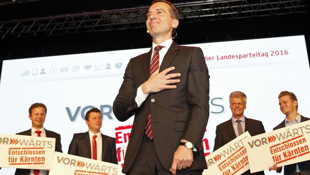 Kanzler Christian Kern beim Landesparteitag der SPÖ Kärnten in Klagenfurt (Bild: APA/Gert Eggenberger)