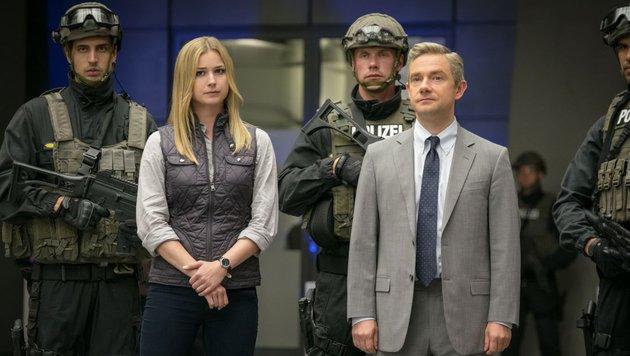 "Peggys Nichte Sharon Carter schnappt sich in ""Civil War"" Steve Rogers alias Captain America. (Bild: Marvel.com)"