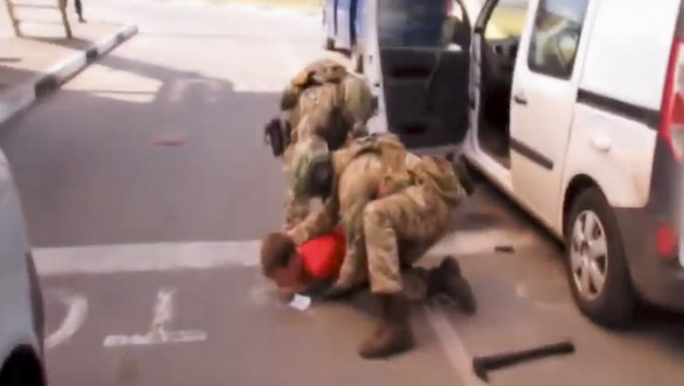 An der Grenze zu Polen schlug der ukrainische Geheimdienst zu. (Bild: AP)