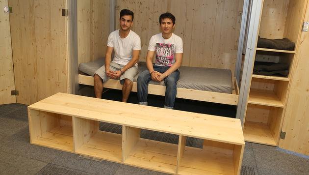Die Flüchtlinge Massoud und Abdul (Bild: Zwefo)