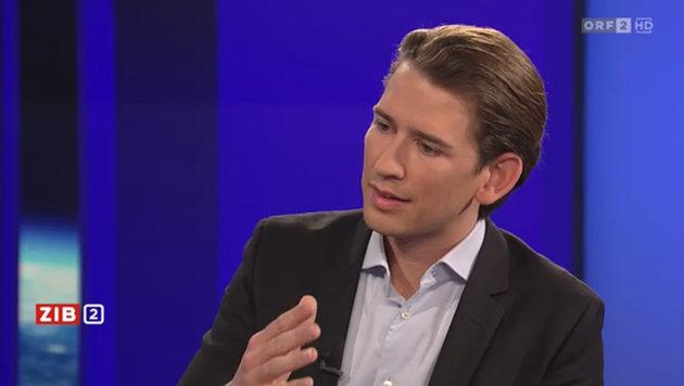 Außenminister Sebastian Kurz (Bild: Screenshot/ORF)
