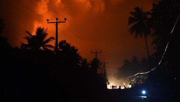 Sri Lanka: Tausende Menschen auf der Flucht (Bild: APA/AFP/Ishara S.Kodikara)