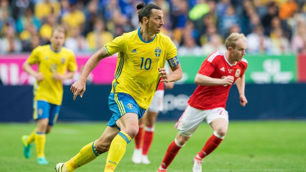 Ibrahimovic beim 3:0-Erfolg gegen Wales (Bild: APA/AFP/JONATHAN NACKSTRAND)