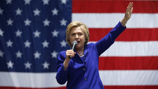 Clinton hat offenbar genug Stimmen f�r Nominierung (Bild: AP)